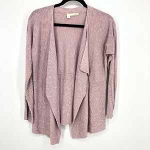 Eileen Fisher Open Front Drape Cardigan Sweater